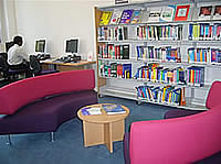 Interior of the Library seating and computer area