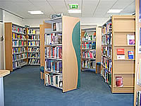 Interior of the Library book selection area